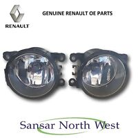 Pair of Brand New Genuine Renault Front Fog Lamp Spot Light - 8200074008 - Valeo