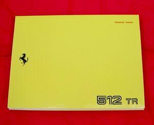 Ferrari 512TR Testarossa RARE Owners Handbook USA - MY1993 - Ita/En/Fr/Ger Text