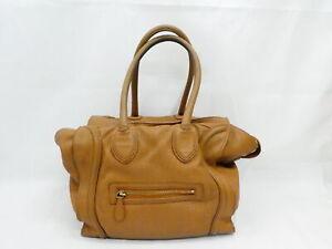 Auth CELINE Luggage Mini Shopper Shoulder Bag Brown Leather/Goldtone - AUC0259