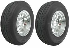 "2-Pack Trailer Wheel & Tire #417 ST205/75D15 205/75 D 15"" LRC 5 Hole Galvanized"
