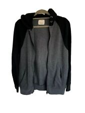 Zara Boys Grey And Black Zip Up Waffle Hoodie Hooded Jacket Lounge Age 13-14 Yrs