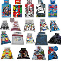 KIDS CHILDRENS CHARACTER THEMED SINGLE DOUBLE DUVET SET COVER QUILT BEDDING NEW