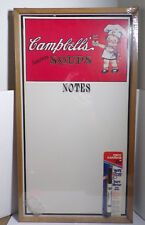 "CAMPBELL'S SOUPS ~ NOTES ~ DRY ERASE BOARD ~ WIPE BOARD ~ NEW ~ 22"" x 12"""