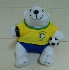Coca Cola Soccer Game Plush Toy Bear - Brazil - Cbf- Spal Ind Brasileira Bebidas