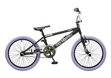 "Rooster Big Daddy Kids 20"" Wheel Freestyle BMX Bike Black Gyro Purple RS125"