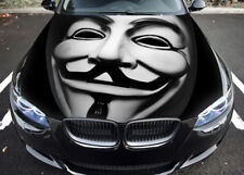 Anonymous Car Hood Wrap Full Color Vinyl Sticker Decal Fit Any Car