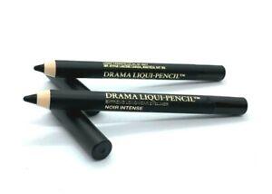 Lot/2 Lancome Drama Liqui-Pencil ~ Noir Intense ~ .028 oz x 2