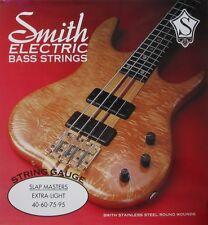KEN SMITH SM-XL SLAP MASTERS STEEL BASS STRINGS, EXTRA LIGHT GAUGE 4's - 40-95