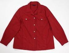 Marina sport jacket giacca jeans rosso donna usato 23 tg 52 denim giacca T4597