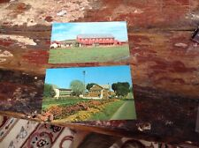 Vintage Amish Country Post Cards House & Barn Lot Of (2)