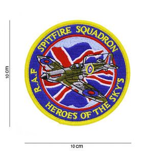 US Army Patch RAF Spitfire Squadron Heroes of the Sky Airforce Division WK2 WWII