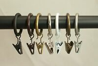 """Urbanest 8 PK Curtain Drapery Rings w/ Clips, 1"""" Inner Dia.Fits up to 3/4"""" rod"""