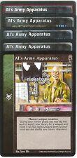 Al's Army Apparatus x5 CE VTES Jyhad Lot A