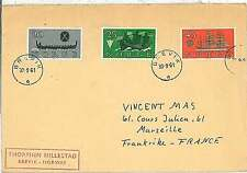 POSTAL HISTORY : NORWAY - COVER to FRANCE - SHIPS  BOATS - 1961