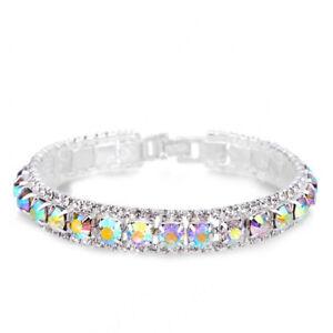 Bracelets Full AAA Zircon Austrian Crystal Femme Women Link Chain Jewelry Bangle