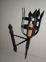 Applique Lampada a parete Torcia TORCIERA medioevo in ferro BATTUTO GRANDE