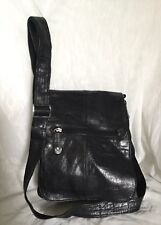 GABEE Black Leather Cross Body/Shoulder Bag / Handbag