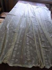 Ancien rideau N01 dentelle ivoire 135x166cm Old lace curtain / Cortina encaje