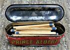 VINTAGE PRINCE ALBERT VERTICAL POCKET LITHO TOBACCO TIN - MATCH SAFE / STASH