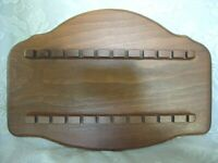 Vintage Collectible Wood/Wooden Spoon Rack - Holds 22 Spoons - Estate Item
