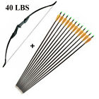 """Adult 51 inch Takedown Recurve Bow Hunt & 12x 30"""" Arrows Set Archery Right Hand"""