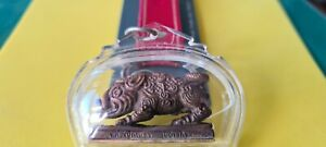 Lucky Amulet Boar, Lp Kalung, Pig Metal Powerful + Keychain of Wealth & Good