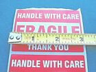"""FRAGILE 2"""" X 3"""" Handle With Care Stickers 30 Pack Thirty Self Stick Labels USA"""