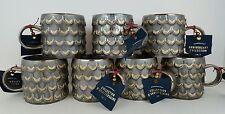 (7) Starbucks 2015 Anniversary Collection Siren Mermaid Scales Ceramic Mugs New