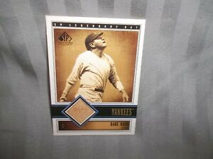 2002 SP Legendary Cuts Babe Ruth Game Used Bat Yankees