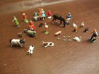 VINTAGE ANTIQUE 1930s BARCLAY BRITAINS LEAD FIGURES & ANIMALS about 30 PIECES