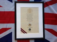 Oath Of Allegiance Cheshire Regiment (framed with Cap Badge)