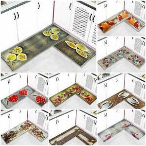 Non Slip 3D Machine Washable Mat Kitchen Fruit Carpet Hallway Runner Floor Mat