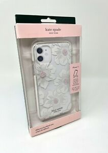 """Kate Spade Defensive Hardshell Case for iPhone 11 6.1"""" - Hollyhock Floral Clear"""