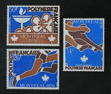 CKStamps: France Stamps Collection French Polynesia Scott#C134-C136 Mint H OG