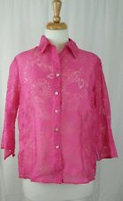 Elementz Petite Pink Sheer Women's/Junior's Sz PL
