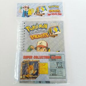 Vintage 1999 Pokemon Super Collection Album Stickers Series 1 Nintendo