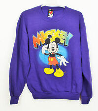 MICKEY MOUSE PURPLE CREWNECK SWEATSHIRT DISNEY VINTAGE RETRO VTG PULLOVER S