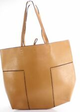 Tory Burch Women's Handbag Purse Brown Gold Block T Tote Leather $478- #793