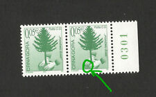 MONTENEGRO-PAIR- ENGRAVER - TAX STAMP ,FOREST-2002.