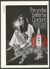 GORDON'S VODKA  -1969 Vintage Print Ad
