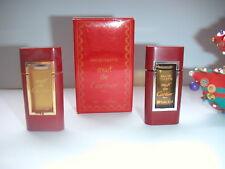 LOT de 2 miniatures  MUST + MUST II  de CARTIER   pleines + 1 boite   ANCIENNES