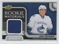(66763) 2015-16 UPPER DECK ROOKIE MATERIALS JERSEY JAKE VIRTANEN #RM-JV