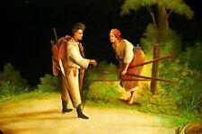 Originale künstlerische Malerein der Zeit Miniatur-im Jugendstil