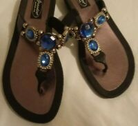 Womens Thong Sandals With Gems_Grandco Sandals.com Size 7