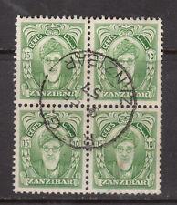 Zanzibar #232 Extra Fine Used Block With CDS Block