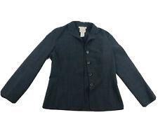 Celine Sz 40 Finition Main Wool Long Sleeve Gray Blazer Jacket Made In France