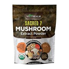 Sacred 7 Mushroom Extract Powder USDA Organic Whole Mushrooms No fillers 2 Ounce