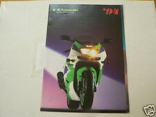 K274 KAWASAKI  BROCHURE 1994 MODELS DUTCH 16 PAGES ZX-9R COVER,KX MODELS