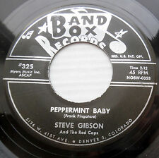 STEVE GIBSON & the RED CAPS orig.doowop M- 45 PEPPERMINT BABY b/w NO MORE F1810