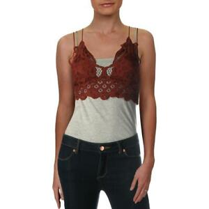 Intimately Free People Womens Adella Brown Wireless Smocked Bralette S BHFO 9952